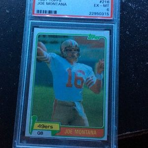 Other - 1981 TOPPS Joe Montana card